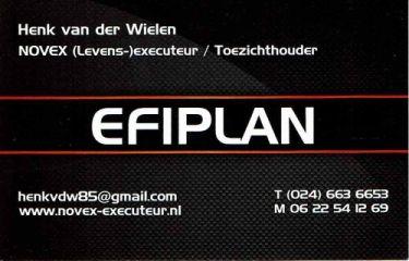 Visitekaartje EFIPLAN voorzijde